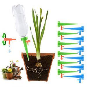 Eurobuy Irrigation Goutte à Goutte Kit, 12 Pcs Système d'arrosage pour abreuvoirs de plantes, Arrosage Automatique Goutte à Goutte, pour Jardin Maison Intérieur Extérieur (Eurobuy, neuf)