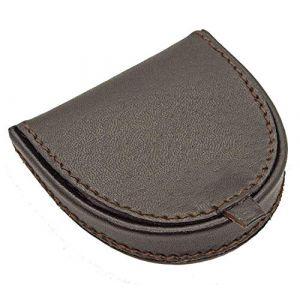 LIVAN® - L089 - Porte-Monnaie Homme Femme - Cuvette Demi Lune - Cuir véritable - Compact et Pratique - pour Poches Pantalon ou Veste (Marron) (Starry FR, neuf)