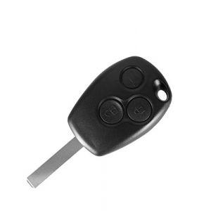 PHONILLICO Coque Cle Renault Clio Kangoo Modus Twingo Wind - Plip clé télécommande 3 Boutons Lame Plate (Phonillico, neuf)