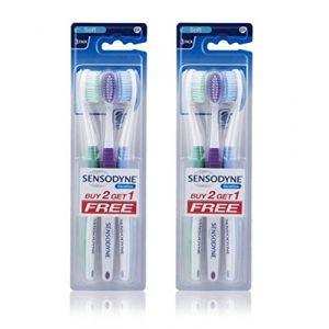 2Sensodyne Sensitive Brosse à dents souple dents sensibles-(lot de 3) (Velly Service, neuf)