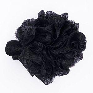 Fullgold de bain Fleur Rose Style avec dragonne de douche éponge Pouf Loofahs Maille Brosse de douche Boule, grande Exfoliant Doux Eponges de bain Loofah–Lot de 1(Noir) (FullGold JS, neuf)