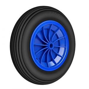 Miafamily PU Rad 3.50-8 Roue en caoutchouc pour pneus de brouette universel 80 kg Charge maximale 356 x 80 mm, 1 PCS (miafamily, neuf)