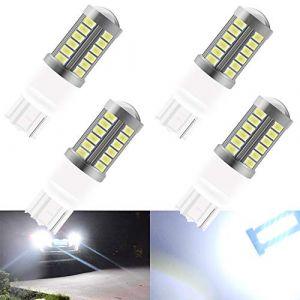 4pcs Blanc T20 7440 7440NA 7441 992 5630 33SMD Ampoules LED Canbus 900LM Super Eclairage de Recul Feu de Stationnement Frein Feu Antibrouillard Arrière Position Feu Arrière 12-30V 3.6W (KaiDengZhe, neuf)