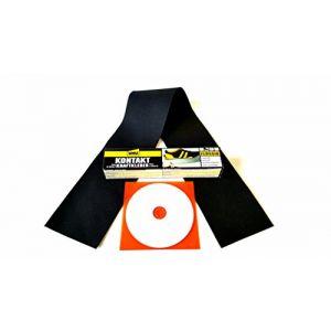 CABRIO Capote Kit de réparation Repair Kit REP Kit REP Kit en original Cabriolet Capote plastique pour fissures, Coupes, trous, Écorchures. ect. (complet avec rustine, colle, EBA CD) pour plastique de couverture (Autosattler, neuf)