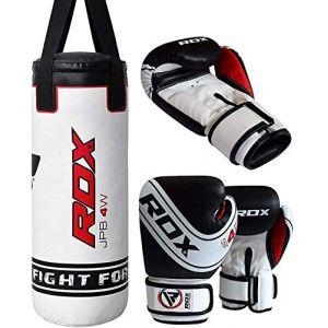 RDX Sac de Frappe Enfant Rempli Lourd Junior Punching Ball MMA Muay Thai Kickboxing Arts Martiaux Boxe Gants Chaine Suspension Punching Bag (RDXINC LTD, neuf)