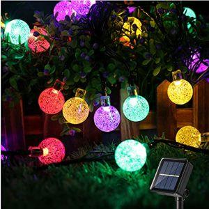 Guirlande Solaire Exterieure, BrizLabs 6.5M 30 LED Guirlande Lumineuse Boules Lampe Solaire 8 Modes Etanche Exterieu Décorative pour Soirée, Mariage, Jardin, Patio, Magasin, Maison, Multicolore (Vegalife-EU, neuf)