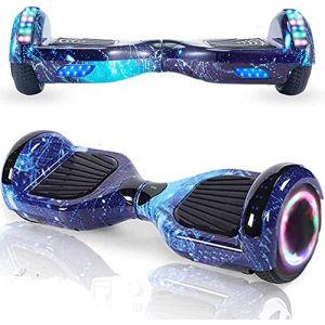 Magic Vida Skateboard Électrique 6.5 Pouces Bluetooth Puissance 700W avec Deux Barres LED Gyropode Auto-Équilibrage de Bonne qualité pour Enfants et Adultes?Violet Ciel (New Start Home Goods Limited, neuf)