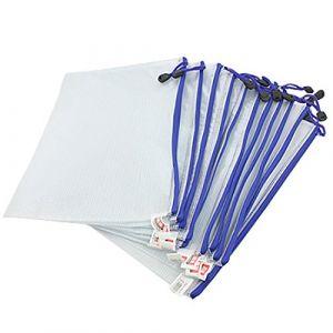 12pcs Chemise Paquet Portefeuille Pochette en PVC Zip Document Dossier A5-blanc (MMY1980, neuf)