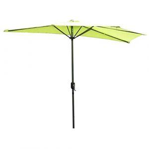 Angel Living Parasol de Jardin avec Pare-Soleil à mécanisme d'inclinaison par manivelle pour Balcon de terrasse (270cm Demi Parasol Pomme Vert) (Angel Living Outdoor, neuf)