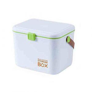 Ménage boîte de rangement boîte à médicaments multi-couche de finition portable premiers soins médicaux boîte à médicaments portable boîte de tri portable petite boîte de rangement-green (GQP Boutiques, neuf)