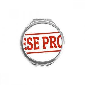 DIYthinker sceau rouge produit chinois motif rouge miroir rond maquillage de poche à la main portable 2,6 pouces x 2,4 pouces x 0,3 pouce Multicolore (bestchong, neuf)