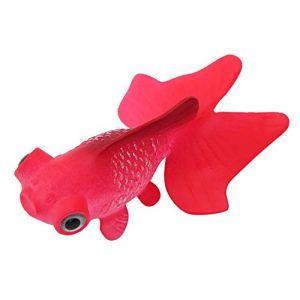Aquarium Bol De Poisson en Plastique De Natation Poisson Or Betta Poisson Drôle Artificielle en Silicone Petit Poisson Réaliste Faux Poisson Fish Tank Décoration Ornements(Goldfish Rouge) (Otoleeleu, neuf)