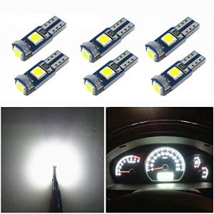 WLJH T5 LED Ampoule Wedge 3030SMD 3SMD 12V 1.5W 74 2721 37 LED Instrument Panneau Tableau de bord Cluster Dash Light (pack de 6, blanc) (WLJHLED, neuf)