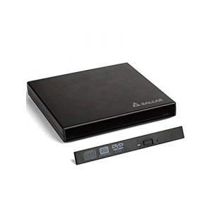 Salcar - Boîtier Externe USB2.0 pour lecteur graveur CD/ DVD/ Blu-Ray 12,7 mm d'épaisseur de l'interface SATA (Noir) (Salcar GmbH, neuf)