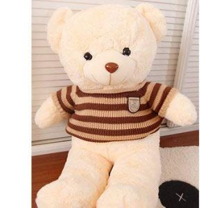 Rose Teddy Bear Holds A Bear Doll, Plusteddy Teddy Bear Doll, Rag Doll, Birthday Present Ours Beige Marron 80 Cm (lizhaowei531045832, neuf)