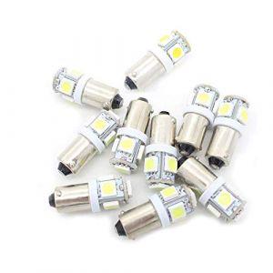 BoomBoost10 pcs 5SMD 5050 LED T11 BA9S Blanc T4W 182 1445 H6W 53 Voyants de Voiture Ampoule Lampe de cale Car Wedge Light (WeiHong Lighting, neuf)