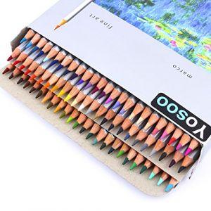 yosoo 72couleurs Crayons de couleur Crayons de couleur Set Art Dessin Lot de stylos Crayons (sanurety, neuf)