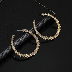 Ensemble de boucles d'oreilles pour femmes Créoles Boucles d'oreilles rondes vintage pour femmes Boucles d'oreilles en or/argent Boucles d'oreilles Tendanceor (Graceguoer, neuf)