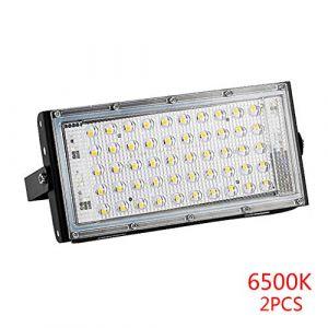 Lorsoul 50W Projecteur LED Projecteur Réverbère IP65 étanche Paysage Spot 6500K 2pcs (lorsoul, neuf)