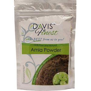 Davis meilleurs Amla Poudre-Soin naturel pour endommagés bouclés Cheveux ternes Mous-La pousse des cheveux Traitement fortifiant et épaississant Produit-Shining soyeux brillant Cheveux (100g) (DavisFinest, neuf)