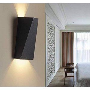 Lampop Applique Murale LED Intérieur Murale Up Down Appliques Murales Cuivre Chambre Moderne Lampe pour Chambre Salon Couloir Escalier Balcon Jardin Noir Blanc Chaud (Lampop, neuf)