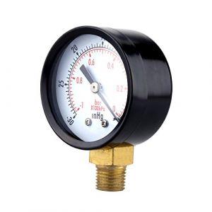 Ueetek manomètre de pression à vide pour compresseur d'air eau Gaz de pétrole 0-30hg (Eileem, neuf)