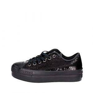 CONVERSE chaussures plate-forme de 558984C espadrilles CTAS PLATEFORME OX taille 39 BLACK (QCSSTORE, neuf)