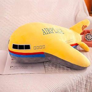 Peluche jouet avion enfant modèle poupée chiffon poupée garçon oreiller enfant cadeau d'anniversaire-Jaune_65 cm (lizhaowei531045832, neuf)