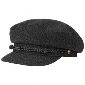 Stetson Casquette Wool Cashmere Riders Femme | Made in Italy Type Gavroche Laine Baker Boy avec Visiere, Doublure, Doublure Automne-Hiver | S (54-55 cm) Gris (Chapeaushop, neuf)