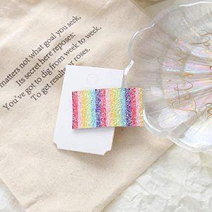 Pince à cheveux couleur bonbon clip côté fille mignonne pince en tissu frange pince carte de fleur couleur sauvage, couleur chocolat (youweikeji, neuf)