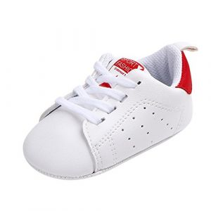 wuayi , Chaussures Souples pour bébé (Fille) - Rouge - Red, 9-12 Mois (wuayi, neuf)