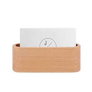 OurLeeme Présentoir de Carte de visite classique en bois Porte seul compartiment Carte Nom présentoir Support de Cartes de Visite Bureau (Marron) (Splendid EU, neuf)