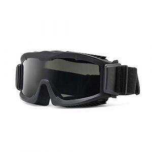 Militaire Alpha Ballistic Goggles Tactique Armée Lunettes de Soleil Airsoft CS Paintball Lunettes 3 Lens Kit (Noir) (EnzoDate, neuf)