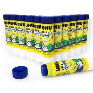 Bâton de colle UHUSticMagic–lot de 12–8,2g–sans solvant–3000688 (papeterie neveu, neuf)