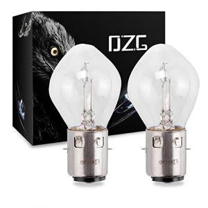 DZG - Ampoules halogènes S2/ Ba20d - Lampes de phare super brillantes 12V 40 / 45W Ampoule de moto jaune 3000K Hi Lo, 2 pièces (DZG2018, neuf)