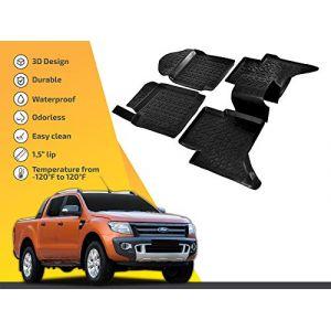   3D Tapis DE Sol en Caoutchouc Premium Compatible avec Ranger T6 T7 2012-prés SCOUTT (J&J AUTOMOTIVE, neuf)