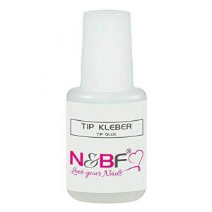 TIP Colle 9g avec pinceau Lot de 10Pinceau à colle pour ongles dans la bouteille (NAILS-FACTORY, neuf)