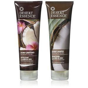 Desert Essence - Shampooing et Revitalisant à la noix de coco - Pack duo - 2 x 237mL (toutpourlamaison, neuf)