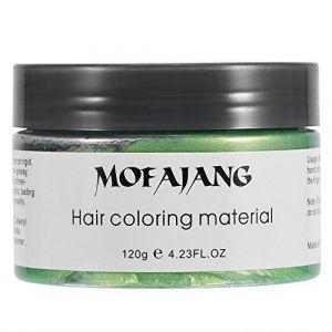 Cire de coloration des cheveux 120ML, coloration temporaire des cires à la cire, traitement lavable avec tenue toute la journée, coloration des cheveux, coiffure naturelle pour hommes, femmes(vert) (Qkiss, neuf)