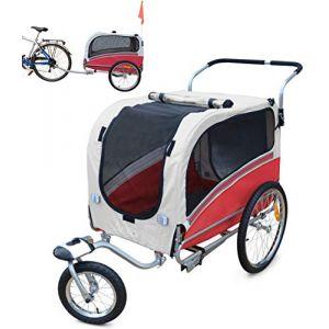 PAPILIOSHOP ARGO Remorque à vélo et poussette pour le transport de chien et animaux modèle course à pied jogging jogger buggy bicyclette bike chiens remorques vélos (*polironeshop*, neuf)