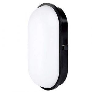 Chestele lampe LED Hublot elliptique Plafonnier Applique Éclairage Luminaire, 20W 3000K 1600LM IP65, Pour l'Intérieur et l'Extérieur - Noir (Chest Electronic Technology, neuf)