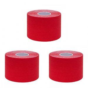 Ziatec pro bande de kinésiologie physiothérapie-tape - kinesiologie-tape - Tape de Kiensiologytistant, couleur:3 x rouge (SFH TRADING, neuf)