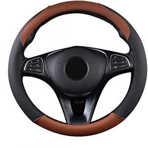 "SFONIA Couvre Volant Voiture Caches de Volant en Cuir Artificiel Universel 37-38cm / 15"" Antidérapant Respirant Durable (SFONIA, neuf)"
