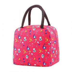 Serria Sac Isotherme Repas Lunch Bag Portable Sac à Déjeuner Sac Isotherme Repas Lunch Bag Portable Sac à Déjeuner pour Pique-Nique/École/Travail/Familie (Serria, neuf)