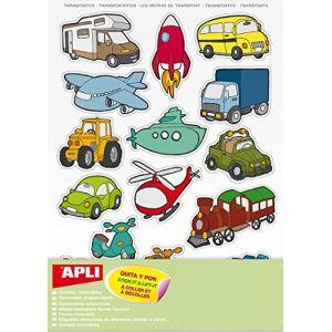 45 gommettes repositionnables - les transports - APLI AGIPA (Arrêt sur l'image, neuf)