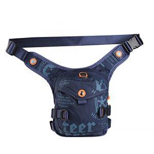 Genda 2Archer Élégant de la cuisse jambe sac Nylon sac de taille pour le sport randonnée escalade cyclisme (Bleu foncé) (JYX Electronics, neuf)