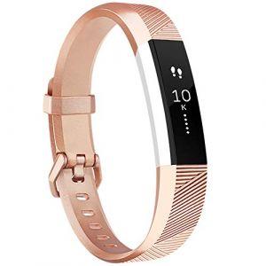 Tobfit Bracelets pour Fitbit Alta HR et Fitbit Alta Bracelet de Replacment Réglable Sport Accessoire pour Fitbit Alta et Fitbit Alta HR (Rose Gold, Grand) (SMXMY-CN, neuf)