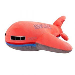 Peluche jouet avion oreiller poupée décoration de la maison enfants garçon cadeau d'anniversaire-Avion rose_40 cm (lizhaowei531045832, neuf)