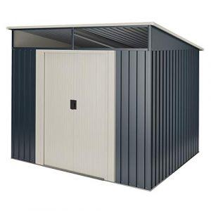 wasabi Abri de Jardin Stark 2.30 m2 - Garantie 10 Ans - 121x195x196cm (Bricotrail, neuf)