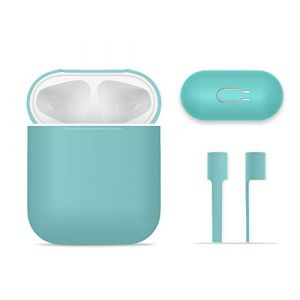AirPods Case Protective, FRTMA Silicone Skin Case with Sport Strap for Apple AirPods (Ice Sea Blue) (frtEU ECLTD, neuf)